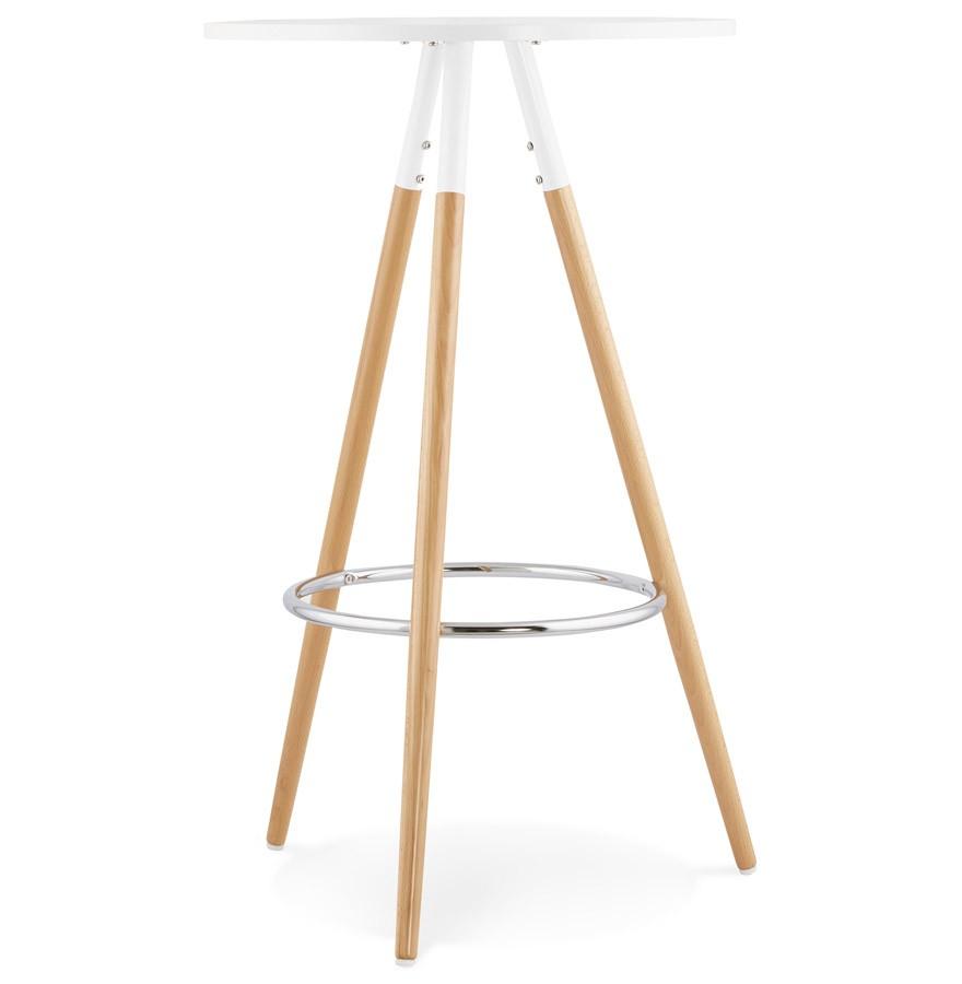 ronde wit houten tafel bary design statafel. Black Bedroom Furniture Sets. Home Design Ideas