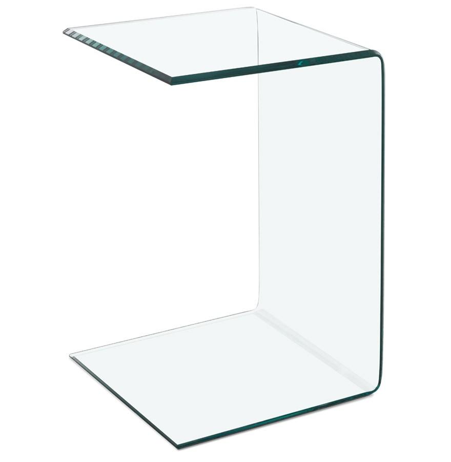 Glazen Bijzet Tafeltje.Zeteltafeltje Bijzettafeltje Bobby U Shape Van Transparant Glas