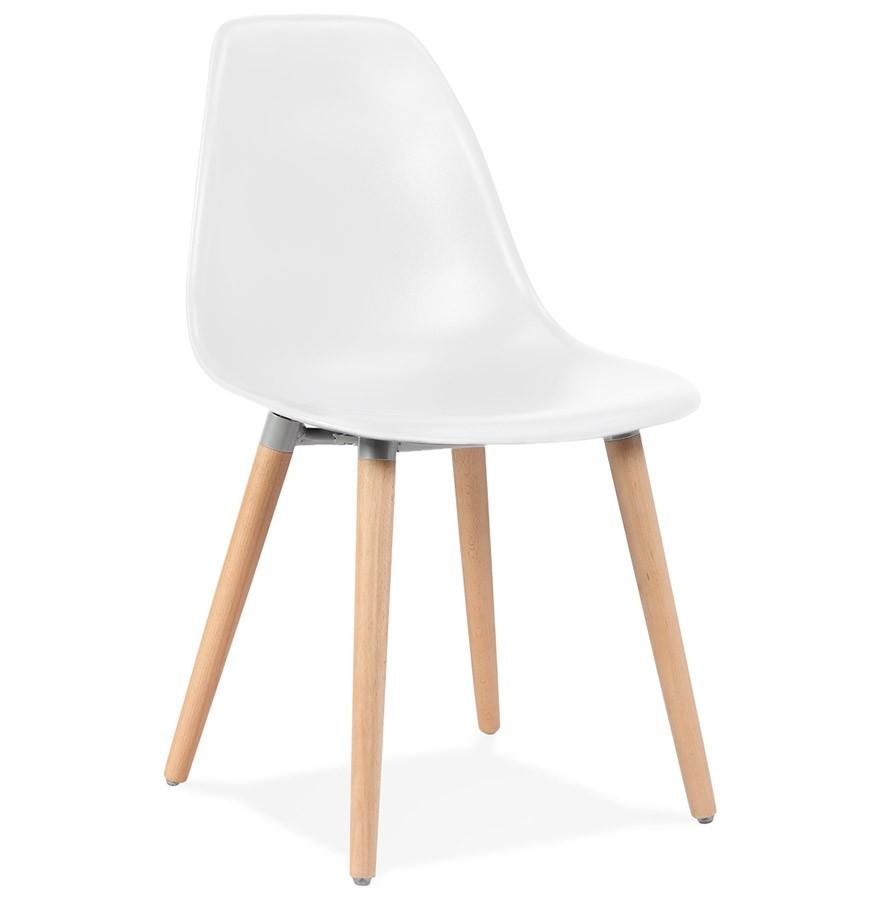 Scandinavische stoel gloria wit scandinavische stoel for Design stoel wit