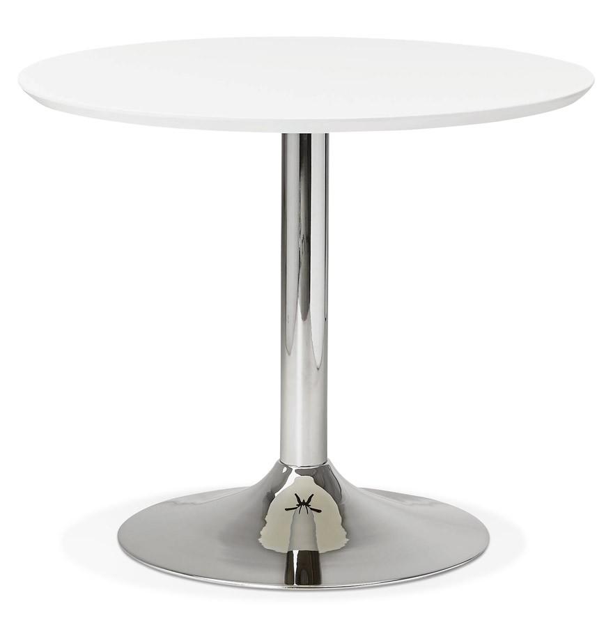 Ronde Tafel 90 Cm Diameter.Kleine Ronde Bureautafel Eettafel Kitchen Wit O 90 Cm