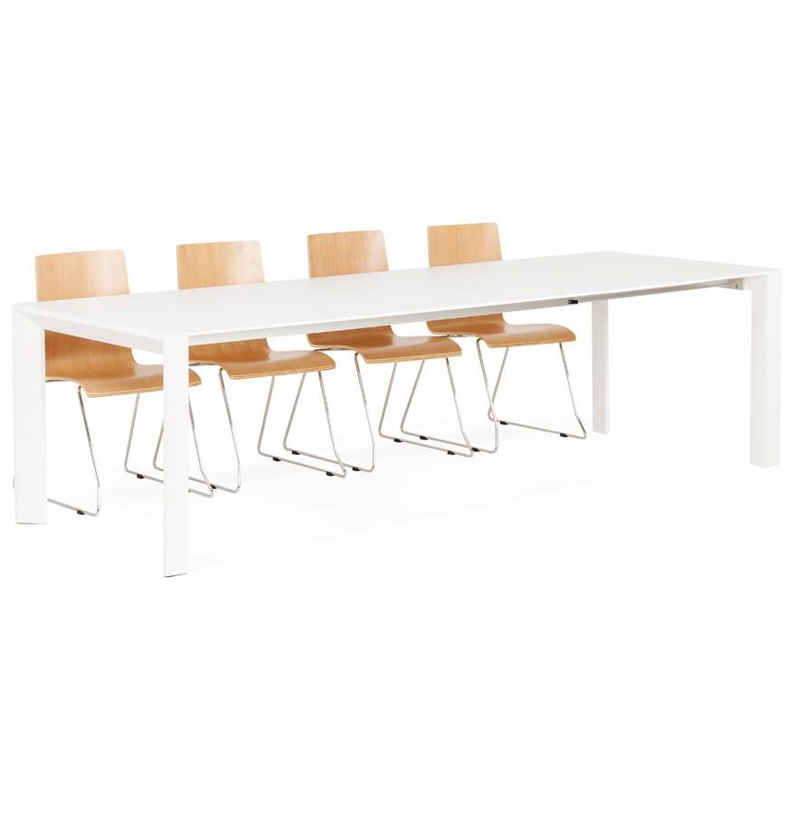 Witte Uitklapbare Tafel.Witte Matte Design Tafel Mamat Eettafel Vergadertafel