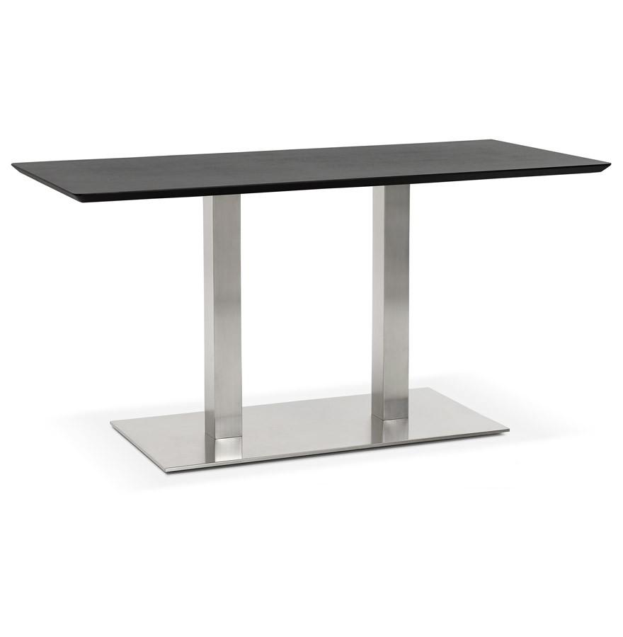 Vergadertafel mambo zwart 150x70 cm design bureau for Bureau 150x70