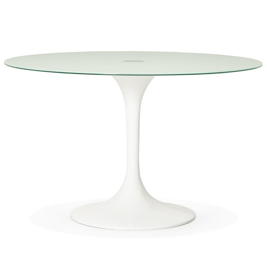 Design Witte Eettafel.Ronde Witte Design Eettafel Alexia O 120 Cm