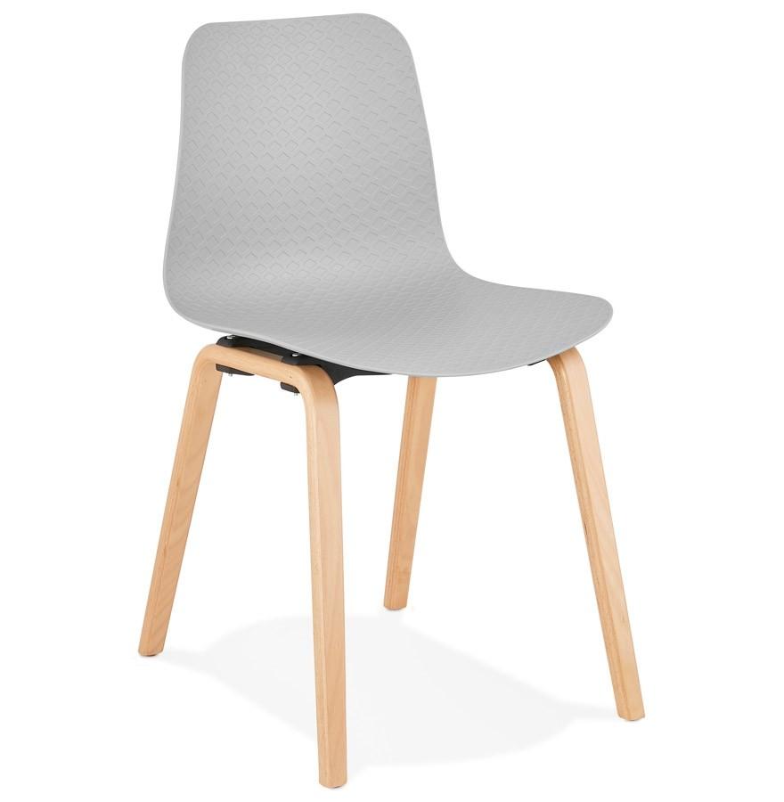 Scandinavische stoel pacifik grijs design stoel for Stoel houten poten