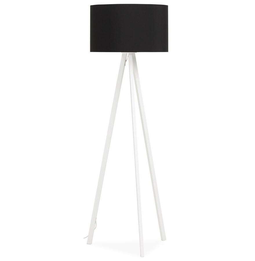 Staande Design Lamp.Zwarte En Witte Staande Lamp Op Driepoot Spring Design Lamp