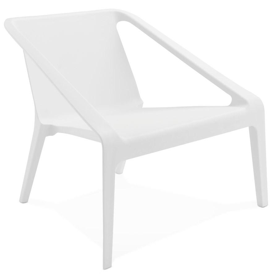Lounge tuinzetel sunny in witte kunststof for Witte kunstof eetkamerstoelen