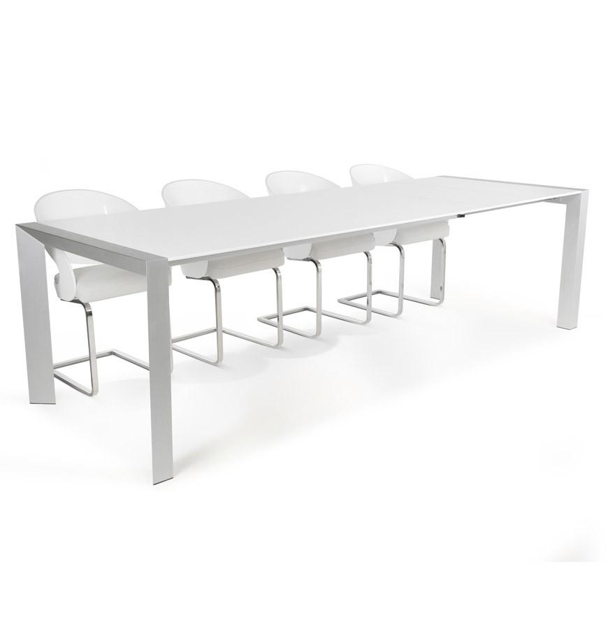 Witte Uitklapbare Tafel.Witte Uitschuifbare Design Tafel Titan Met Verlengstukken