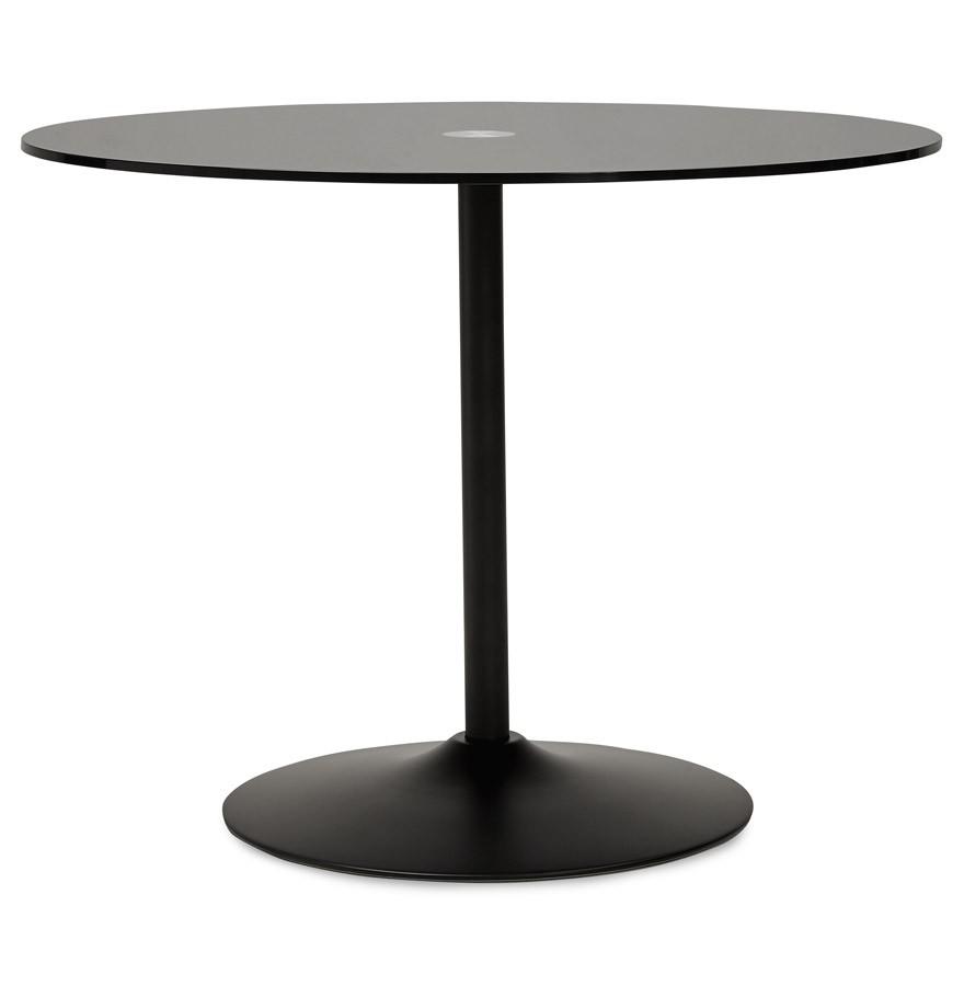 Zwarte Glazen Tuintafel.Ronde Zwarte Glazen Eettafel Trobo O 100 Cm