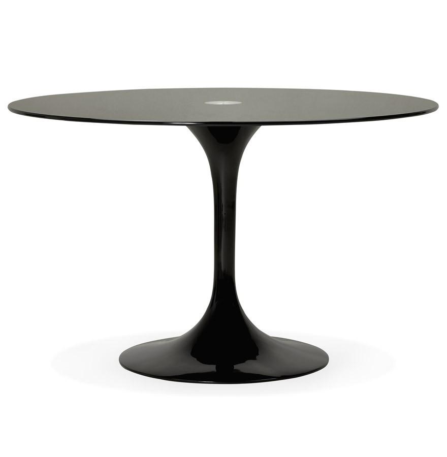 Design Ronde Tafel.Ronde Zwarte Design Eettafel Alexia O 120 Cm