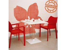 Design terrasstoel 'VIVA' uit rode kunststof