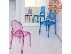 Blauwe transparante kinderstoel 'KIDS' uit kunststof