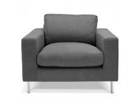Moderne fauteuil 1 zitplaats 'AUGUSTIN MINI' van donkergrijze stof