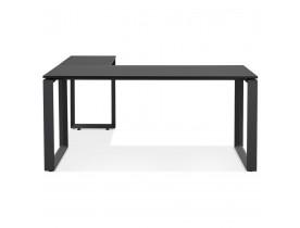 Design hoekbureau 'BAKUS' van zwart hout en metaal - 160 cm