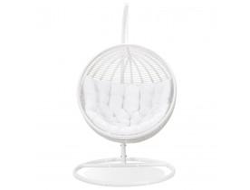 Hangstoel 'BAMBY' van wit synthetisch riet - binnen/buiten