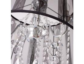 Barokke staande lamp 'BAROK' met  zwarte passementstrookjes