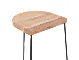 Halfhoge industriële barkruk 'BALDA MINI' van natuurlijk afgewerkt hout
