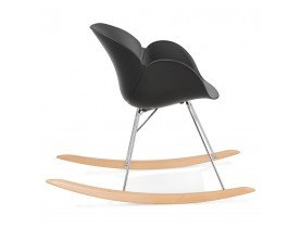 Zwarte design schommelstoel 'BASKUL' in kunststof