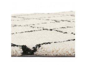 Wit rond Berbers tapijt 'BERAN' met zwarte motieven - Ø 200 cm