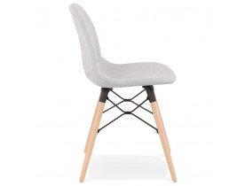 Scandinavische stoel 'BIZON' in lichtgrijze stof