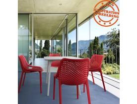 Moderne, rode stoel 'BLOW' uit kunststof
