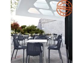 Moderne, donkergrijze stoel 'BLOW' uit kunststof
