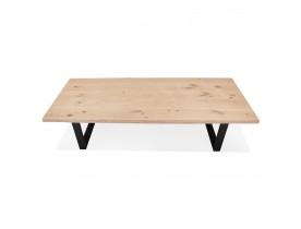 Eettafel in de stijl van een boomstronk 'BOTANIK' in massieve eik in zwart metaal - 260x100 cm