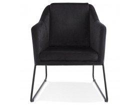 Design loungefauteuil 'BRANDO' van zwart velours