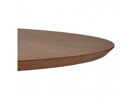 Ronde salontafel 'BUSTER MINI' van notenhout met zwarte metalen poot  - Ø 90 cm