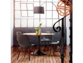 Ronde eettafel/bureautafel 'CHEF'  met notenhouten afwerking