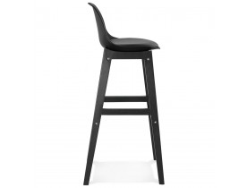 Design barkruk 'CLIO' zwart