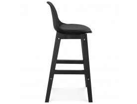 Halfhoge design kruk 'CLIO MINI' zwart