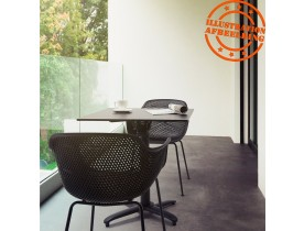 Opvouwbare vierkante zwarte terrastafel 'COMPAKT' - 68x68 cm