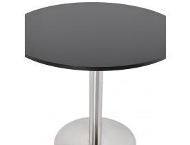 Kleine ronde bureautafel / eettafel 'DALLAS' zwart - Ø 90 cm