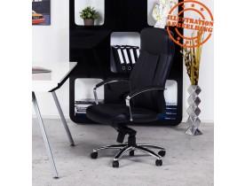 Design bureaustoel 'DATA' in zwart kunstleder