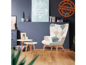 Oorfauteuil loungemodel 'DAMIAN' in Scandinavische stijl