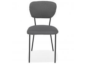 Designstoel 'ESCOLA' in grijze stof met zwart metalen onderstel