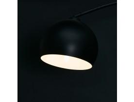 Zwarte boogvormige design vloerlamp 'FLAVIO'