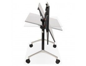 Zwart opklapbaar bureau 'FLEXO' op wieltjes - 160x80 cm