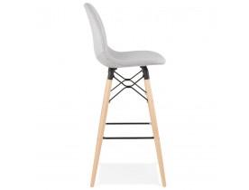 Design barkruk 'GALACTIK' in lichtgrijze stof en Scandinavische stijl