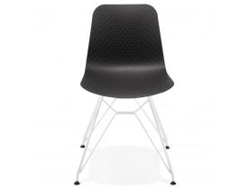 Moderne stoel 'GAUDY' zwart met wit metalen voet
