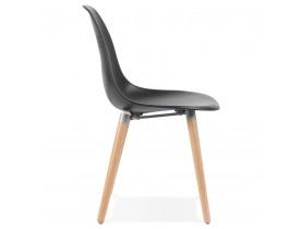 Scandinavische design stoel 'GLORIA' zwart
