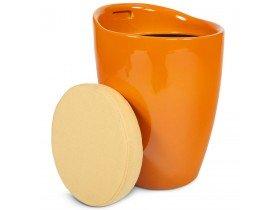 Oranje bijzetkrukje met opbergruimte 'GUM'