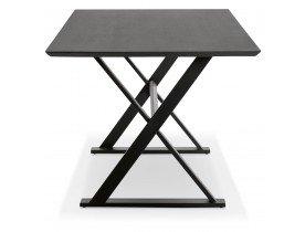 Zwarte, design eettafel / bureau 'HAVANA' met kruis-vormige voeten - 180x90 cm