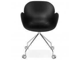 Design bureaustoel 'JEFF' zwart op wieltjes