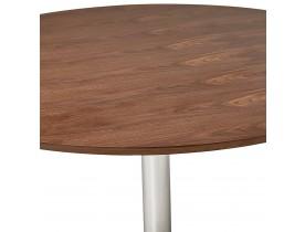 Ronde eettafel/bureautafel 'KITCHEN' met notenhouten afwerking - Ø 120 cm