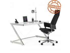 Ergonomische bureaustoel 'KLUB' in zwarte stof