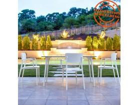 Design tuintafel 'LAGOON' wit voor binnen / buiten - 140x80cm