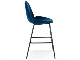 Design barkruk 'LAMY' van blauw velours