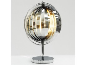 Tafellamp 'LUNA' met metalen lamellen