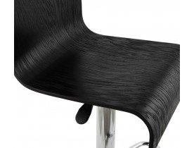 Verstelbare barkruk 'MAGMA' in zwart hout